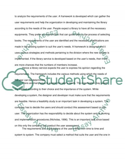 Managing Information Services Essay example