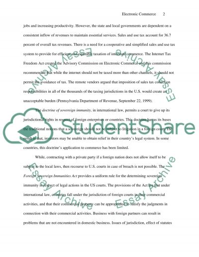 Electronic Commerce Response Essay