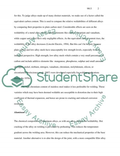 Introduction to Welding essay example