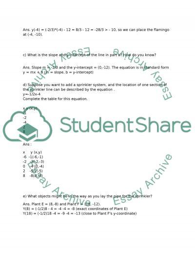 ALGEBRA essay example