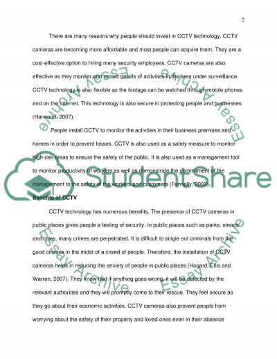 Arguments Regarding Closed Circuit Television (CCTV)