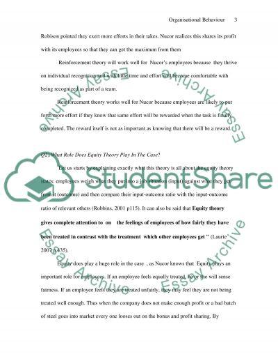 Organisational Behaviour College Essay essay example