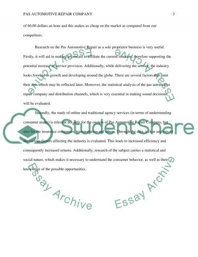 PAS essay example