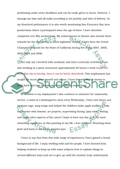 Discuss your most significnt cdemic or personl chievement essay example