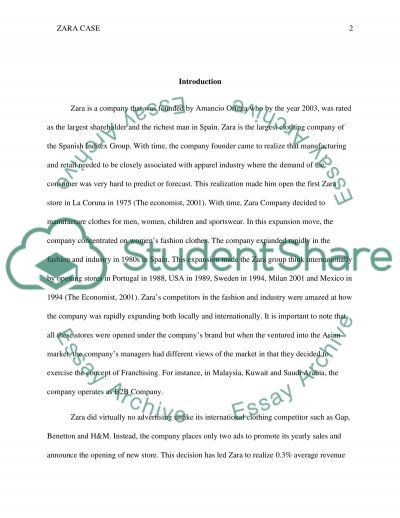 Zara Case Essay essay example