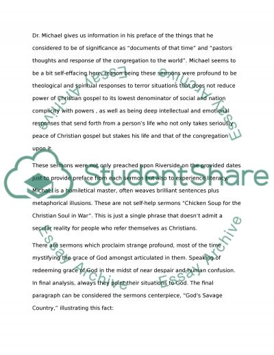 A Reflection essay example