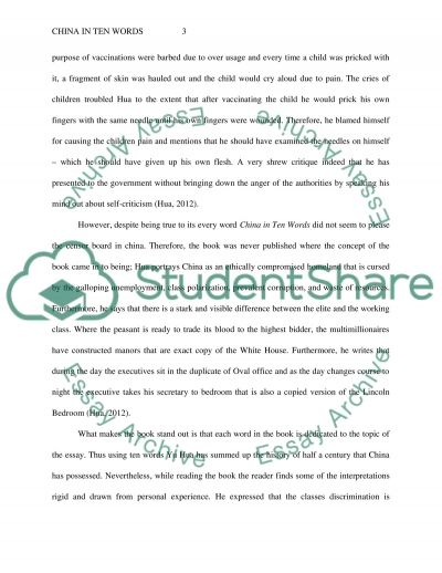 Book report on Yu Huas China in Ten Words