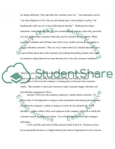 Customers Revenge Case Study essay example