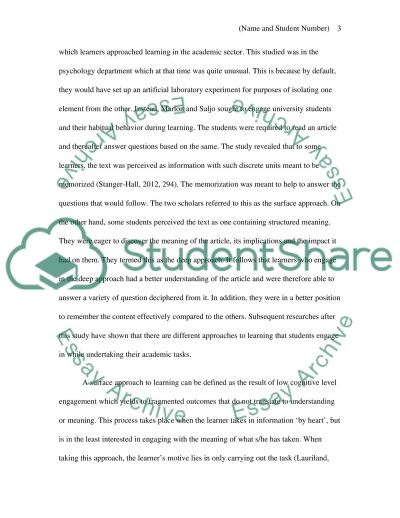 Exploring and learning essay example