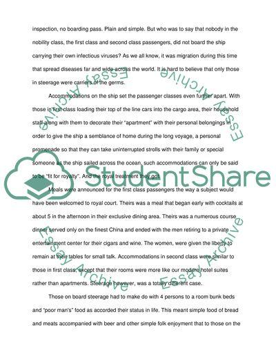 Social class essays