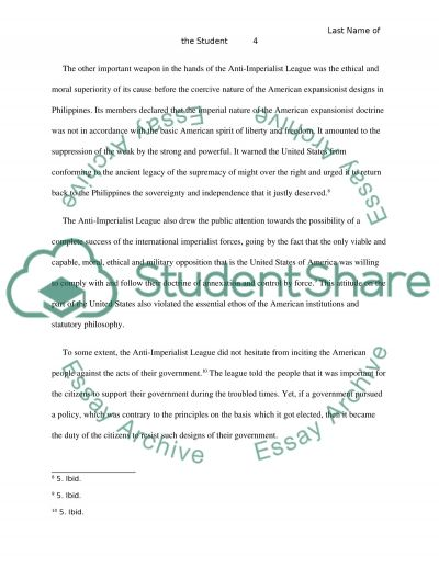 the anti imperialist league essay example topics and well  the anti imperialist league essay example text preview