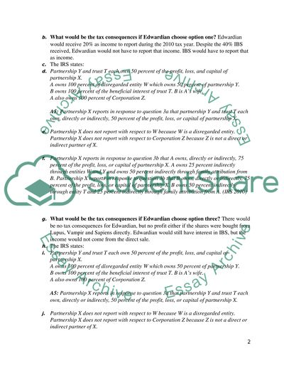 Research Paper Tax Questions Problems