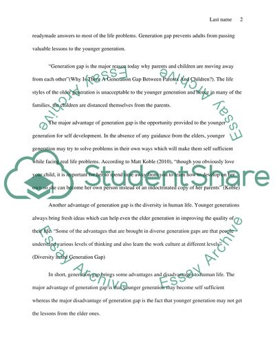Essay Examples For High School The Advantages And Disadvantages Of The Generation Gap English Literature Essay also How To Write A Proposal Essay The Advantages And Disadvantages Of The Generation Gap Essay Essay For Science