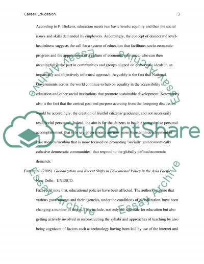 Public School Education and Globalization essay example