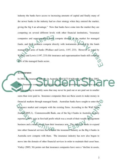 Australian Financial Institutions and Markets essay example