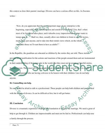 Divorce essay example