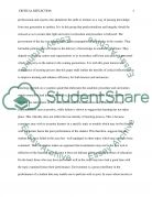 Critical Reflection of Learning Essay example