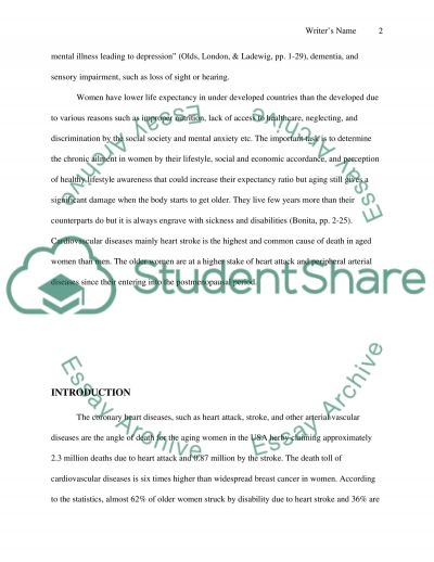 Women and Health essay example