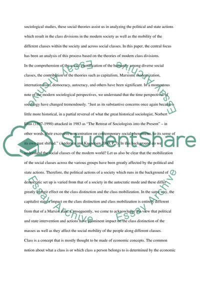 Social Class Master Essay
