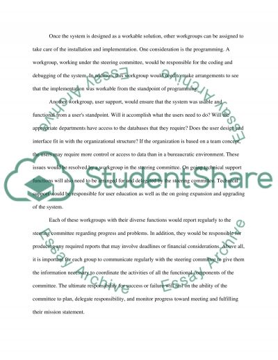 Steering Commitee essay example