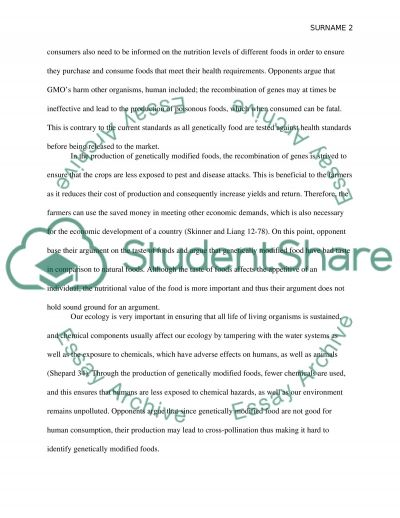 Genetically Modified Foods essay example