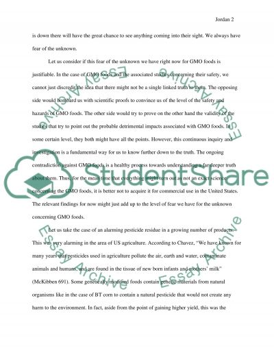 Should GMO foods be banned in the United States essay example