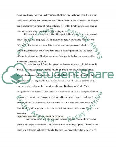 Beethoven Interpretations Research Paper essay example