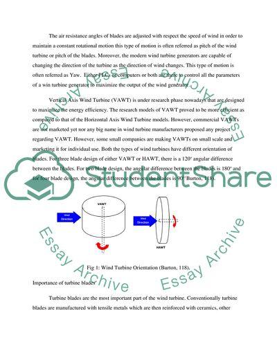 Alternate Energy Engineering - Turbine Blades