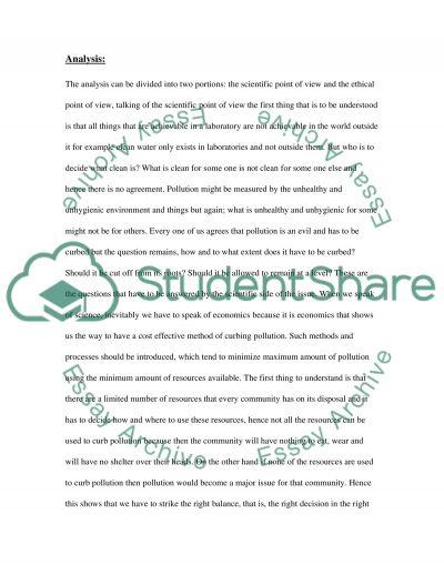 Environmental Case Analysis essay example