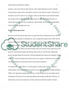 Clinical Supervision Essay example