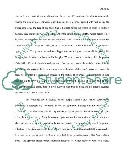 essay writing wedding ceremony