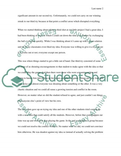 Learning Game essay example