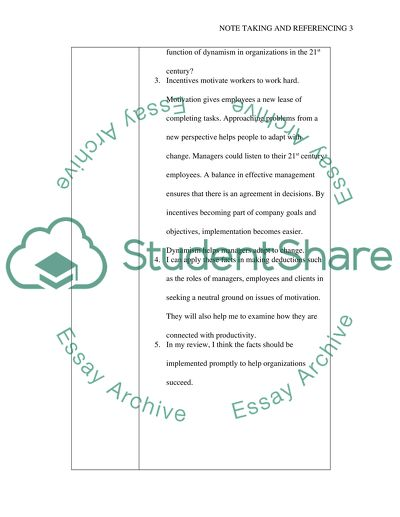 Note Taking and Referencing