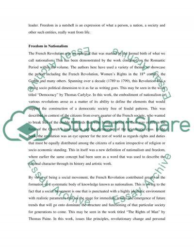 Freedom in Literature essay example