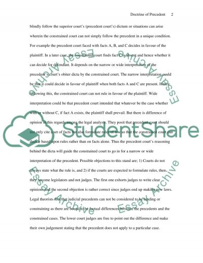 Case Law essay example