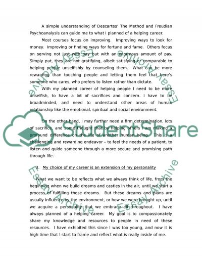 Introduction to Counseling essay example