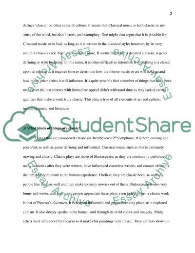 Classic essay example