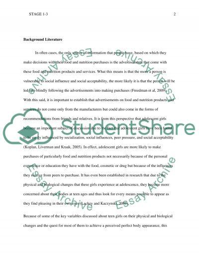 Stage 2&3 essay example
