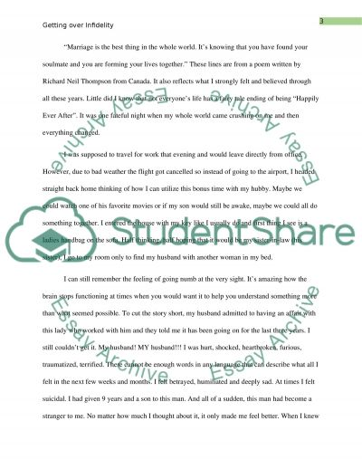 Counseling women to get over cheating partner/ marital infidelity essay example
