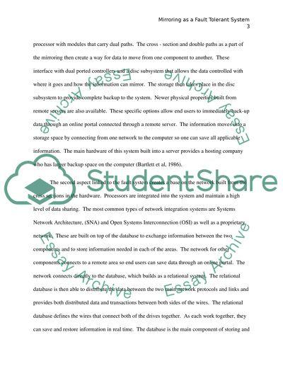 Fault Tolerance Paper