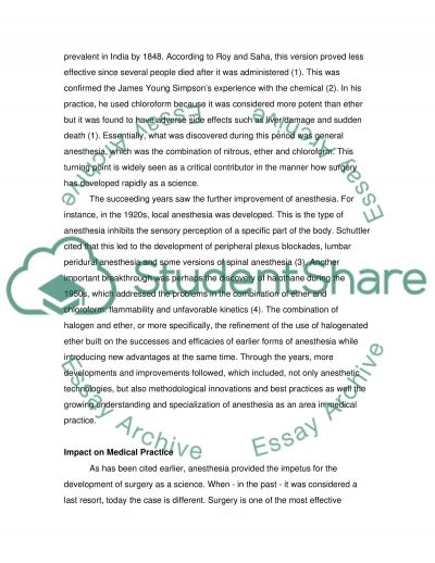 anesthesia essay My experience with general anesthesia surgery after a previous experience with anesthesia awareness.