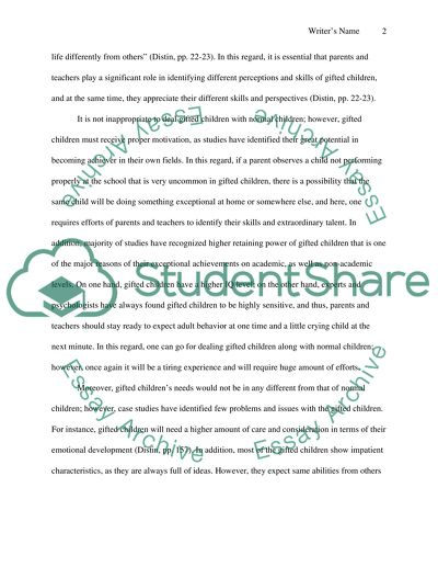 Essay about Gifted Children
