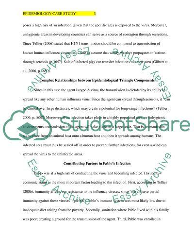 Epidemiology Case Study Paper