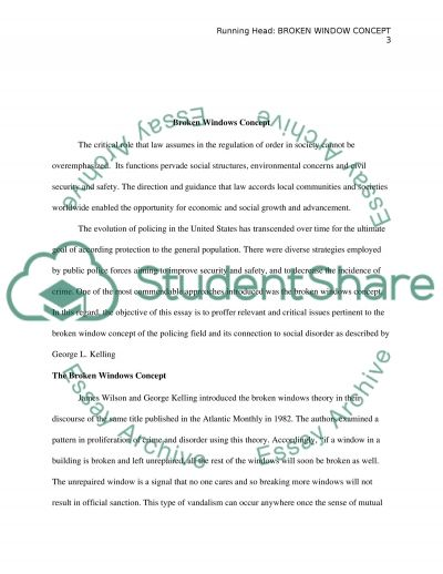 How To Start A Introduction On A Essay Broken Window Concept Economic Essays also Multiple Intelligence Essay Broken Window Concept Essay Example  Topics And Well Written Essays  How To Write A Outline For A Essay