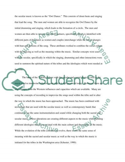 Music essay example