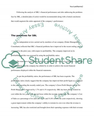The report on SLA Ltd Essay example
