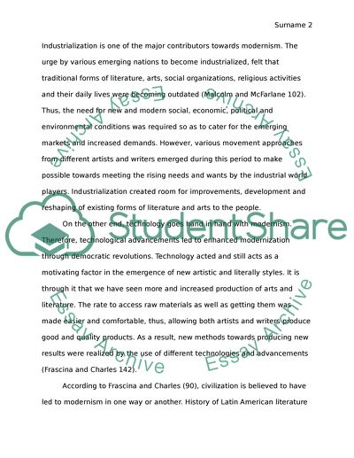 High School Persuasive Essay The Emergence Of Modernism International Business Essays also Teaching Essay Writing High School The Emergence Of Modernism Essay Example  Topics And Well Written  How To Start A Business Essay