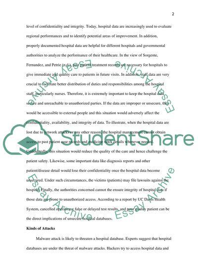 Risk assessment for non-profit hospital Essay Example