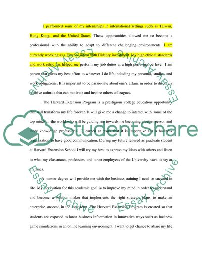 Master Admission Cover Letter Application Essay
