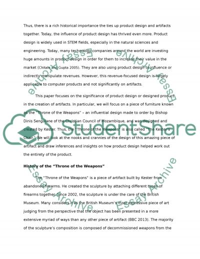 The significance of a designed product (Product Design) essay example